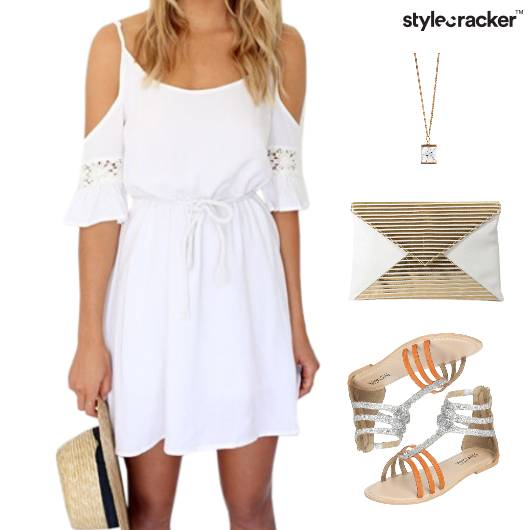 ColdShoulder Dress White Trend - StyleCracker