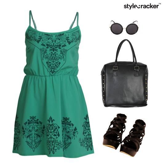 Printed Dress Casual Comfort Sunner - StyleCracker