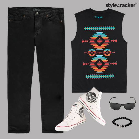 Casual Muscle TShirt Sunglasses  - StyleCracker