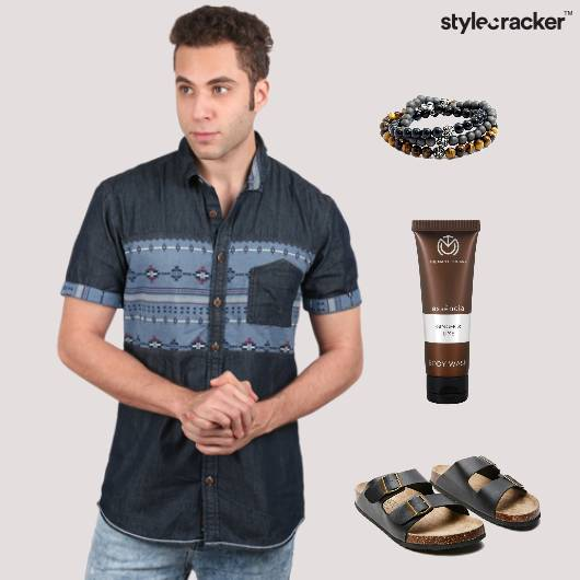 Casual Printed Shirt Denim - StyleCracker