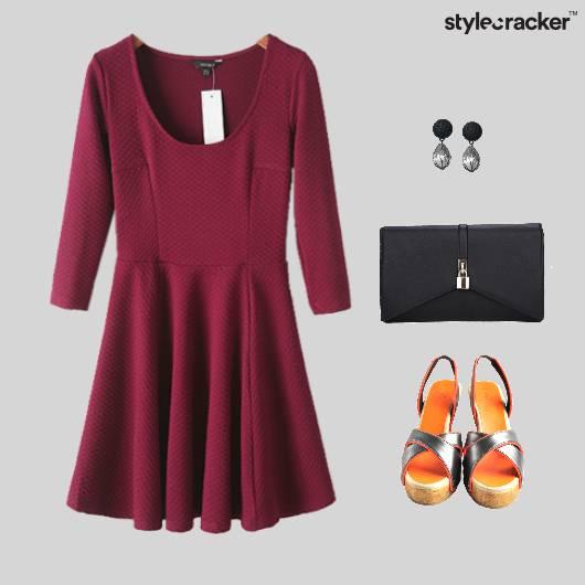 Skater Dress Wedge Heel Footwear - StyleCracker