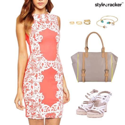 Summer Dress Lunch Wedge Heels Accessories - StyleCracker