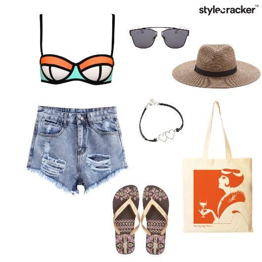 SwimSet Ripped Shorts Summer Beach - StyleCracker