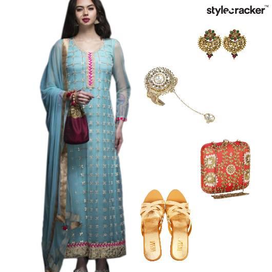 Indian Ethnic Clutch Handharness  - StyleCracker