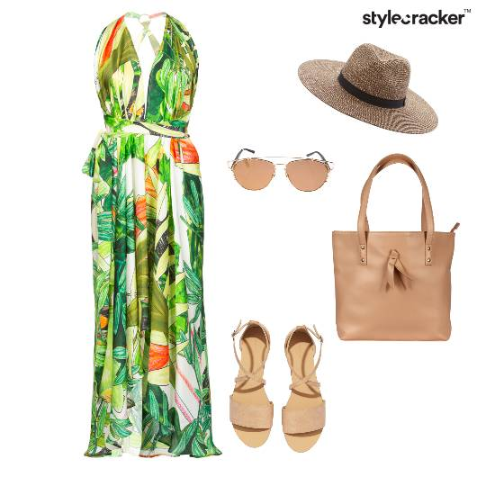 MaxiDress TropicalPrint Summer Vacation  - StyleCracker