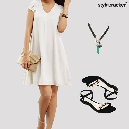 AntiFit Summer Dress Flats Choker - StyleCracker