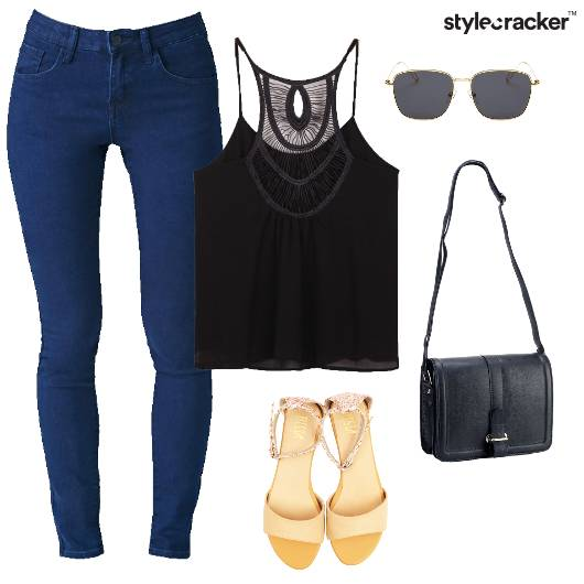 Tank Top Jeans Casual Basic College Summer - StyleCracker