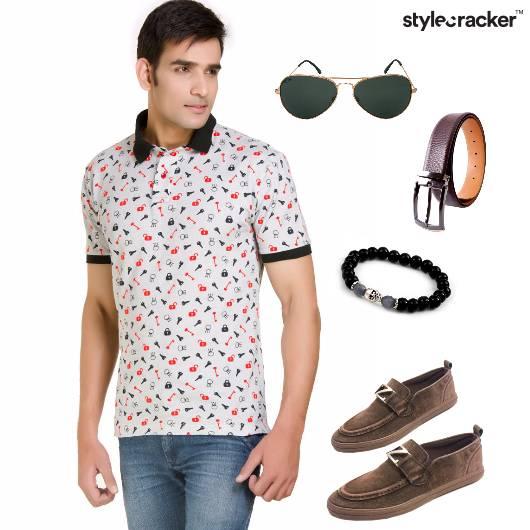 Casual Summer Print TShirt Jeans - StyleCracker