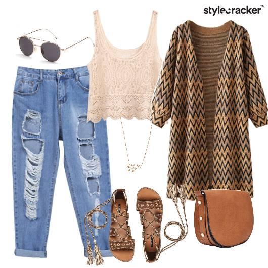 Summer Boyfriend Denim Coverup Tieup Sandals  - StyleCracker