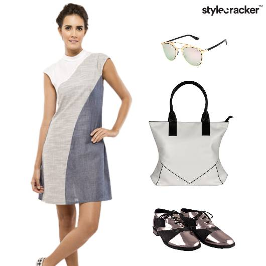 Summer Monochrome Dress Casual - StyleCracker