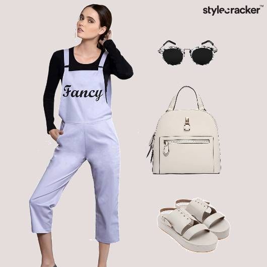 Dungaree Backpack Sunglasses Casual  - StyleCracker