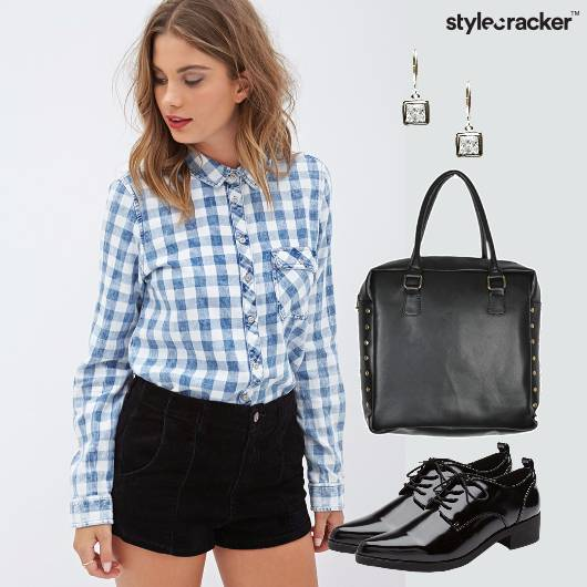 Shirt Shorts Oxfords Semiformal Work  - StyleCracker