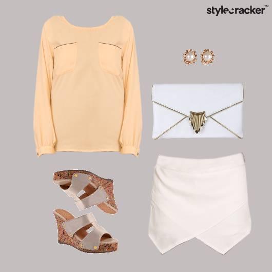 BlouseTop WrapUp Skirt Lunch Accessories - StyleCracker