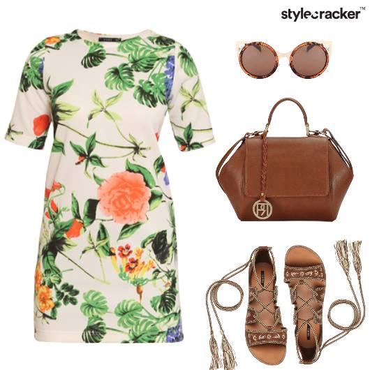 Printed Dress Casual SmartCasual Tan - StyleCracker
