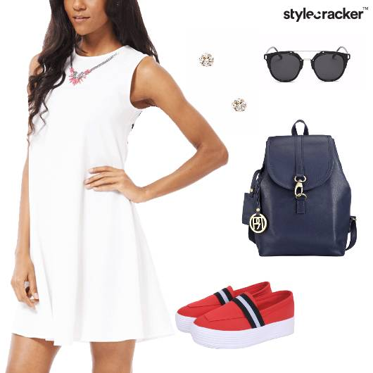 Skater Dress Sports Shoes Casual Summer - StyleCracker