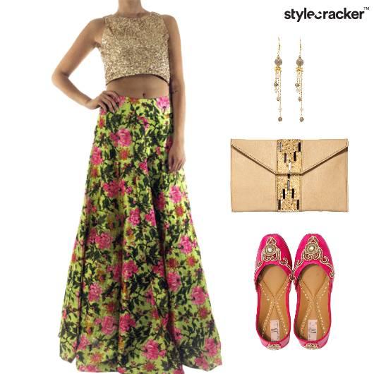 Indian Festive Ethnic Floral  - StyleCracker