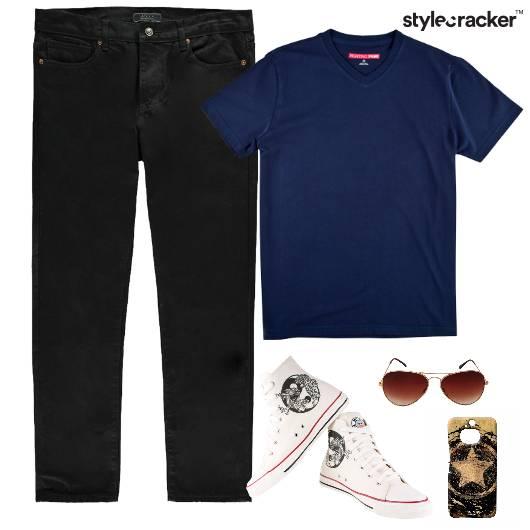 Casual TShirt HiTop Footwear  - StyleCracker