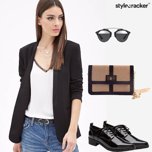 Work Jeans Blazer Cami Oxfords  - StyleCracker