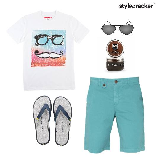 Casual TShirt Flats FlipFlop Vacation - StyleCracker