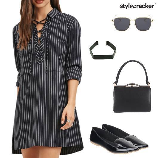 Stripe Shirt Dress Casual  Summer  - StyleCracker