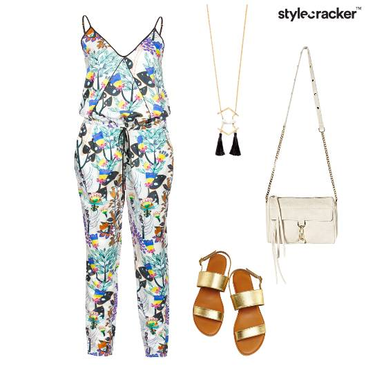 Jumpsuit Prints Summer Flats  - StyleCracker