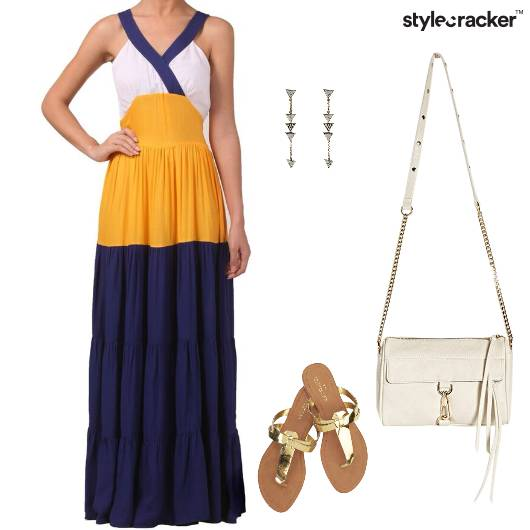 Maxi Dress Pleats Flat  Lunch - StyleCracker