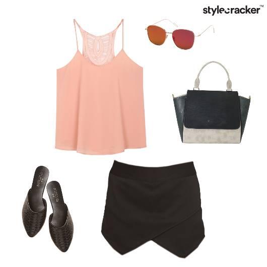 Skort Casual Summer StructuredBag  - StyleCracker