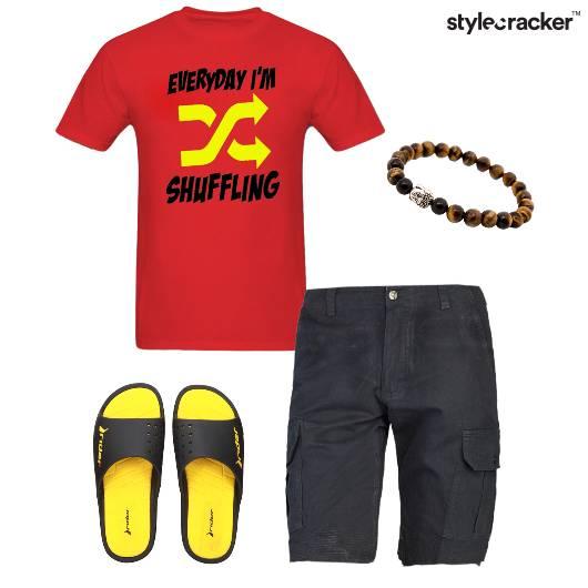 Shorts GraphicTee SlipOns Casual - StyleCracker