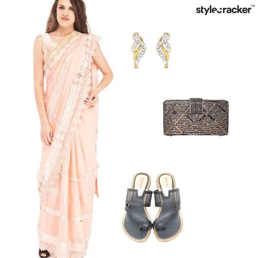 Saree Indian Pastel Reception  - StyleCracker