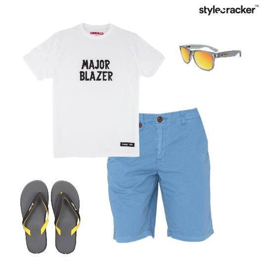 Sunday Chill Casual GraphicTee Shorts  - StyleCracker