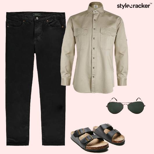 Denim Shirt Casual SlipOns - StyleCracker