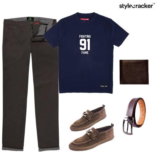 Tshirt Chinos Casual Basic  - StyleCracker