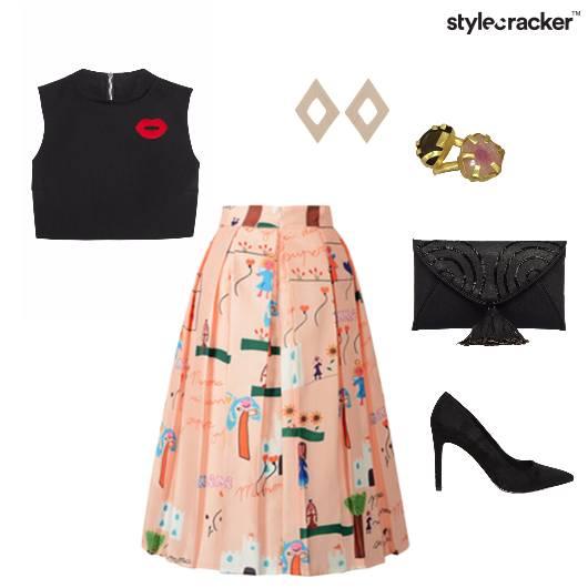 Croptop Skirt Night Party Summer - StyleCracker