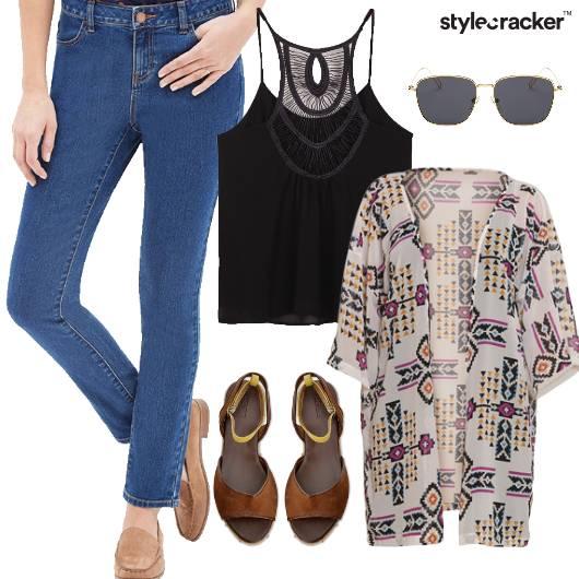 Jeans Singlet Layer Cardigan Summer - StyleCracker