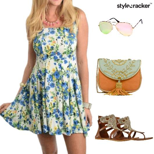 Printed Dress Brights Casual Weekend - StyleCracker