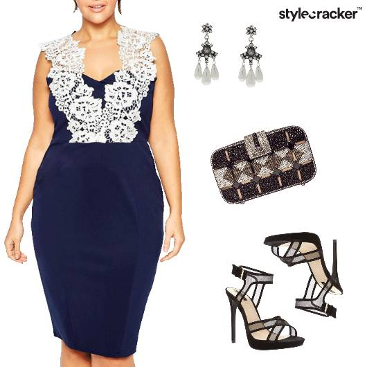 Lace Party NightOut Glam Cocktail - StyleCracker