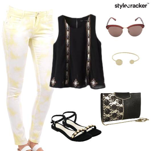 TieAndDye Jeans FlaredTop Summer Brunch - StyleCracker