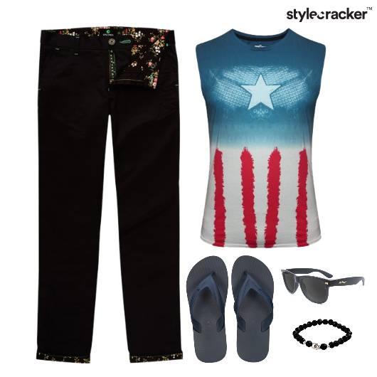 CaptainAmerica Comfort Casual FlipFlops - StyleCracker