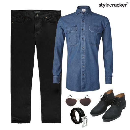 Denim Shirt Casuals Lunch  - StyleCracker