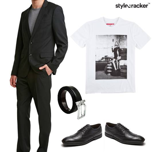 Blazer Tshirt Suit Suited - StyleCracker