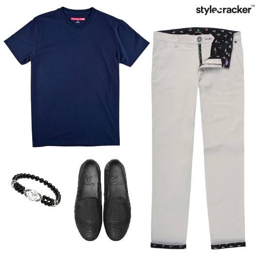 Tshirt Chino Loafers Casual Basic - StyleCracker