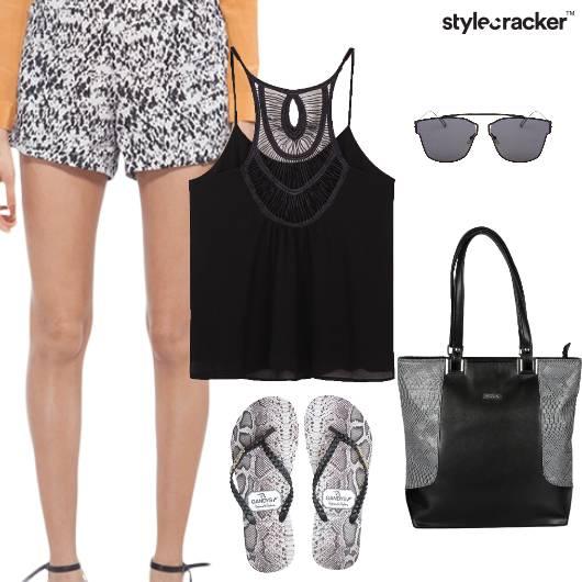 Tank Shorts Flats Casual Summer - StyleCracker