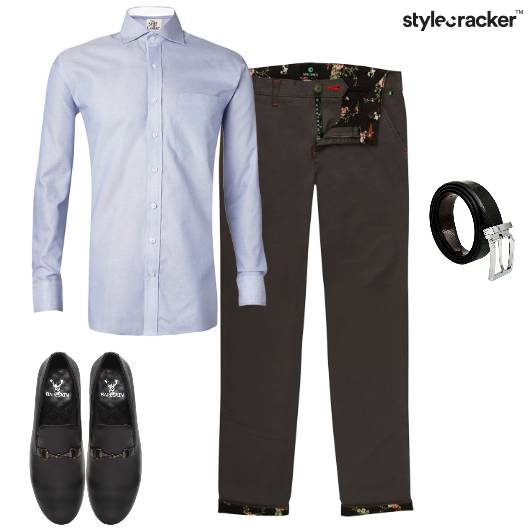 Work Chinos Shirt Blues - StyleCracker
