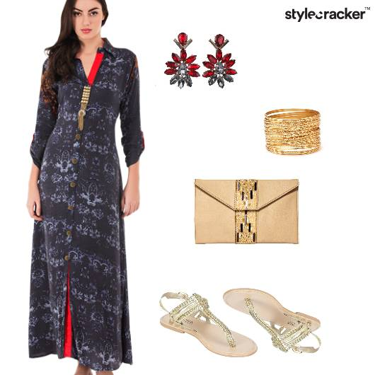 IndoWestern Prints Summer Gold  - StyleCracker