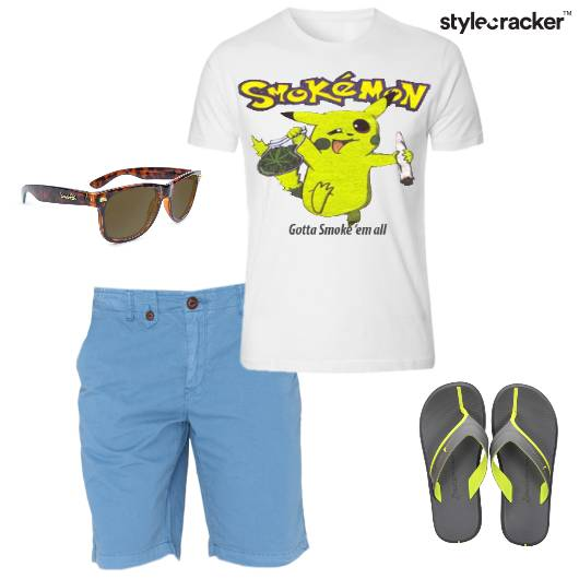 Casual GraphicTees Shorts Slipons - StyleCracker