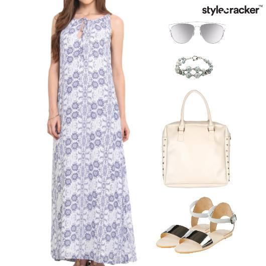 Maxi Dress Flats Bracelet Vacation Beach - StyleCracker