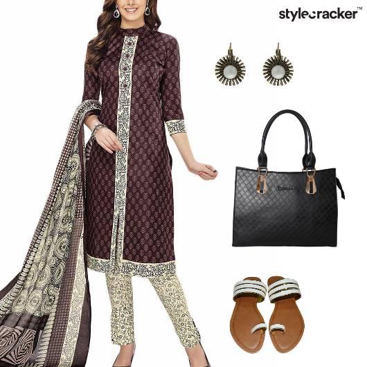 ChudiDaar Suit Indian Casual Work - StyleCracker
