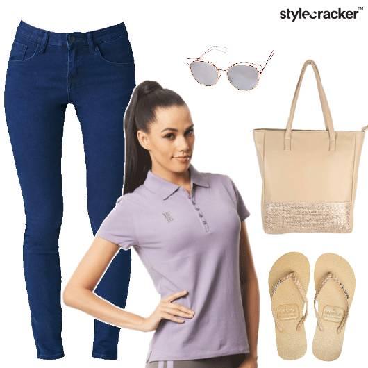 Casual Sorbet TShirt Jeans College - StyleCracker