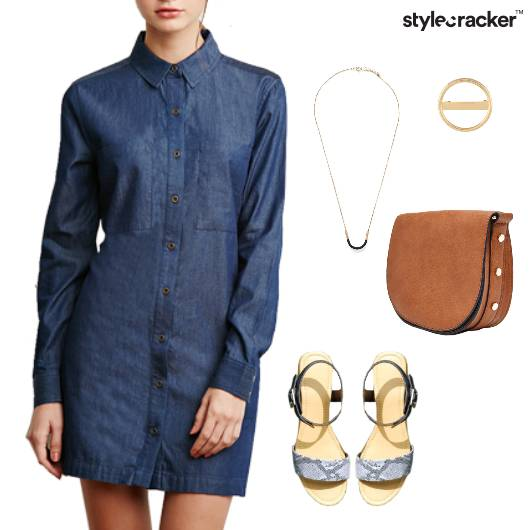 Denim Casual Dress DayOut  - StyleCracker