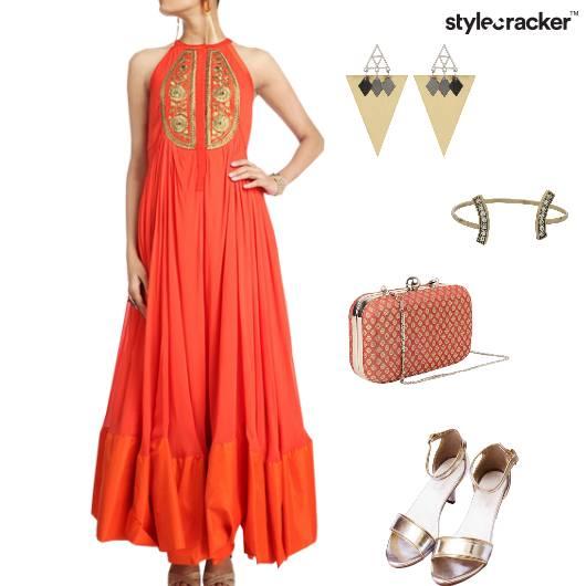 Suit Heels Clutch Bracelet Indian - StyleCracker